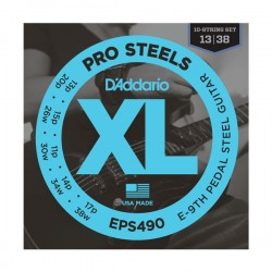 D'Addario EPS500 Pedal Steel Strings, C-6th, 13-38