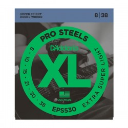 D'Addario EPS530 ProSteels, Extra-Super Light, 8-38