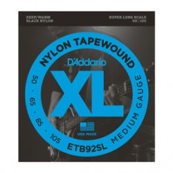 D'Addario ETB92SL Tapewound Bass, Medium, 50-105, Super Long Scale
