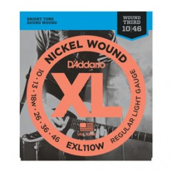 D'Addario EXL110W Nickel Wound Light (wound 3rd) Electric, 10-46