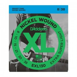 D'Addario EXL130 Nickel Wound, Extra-Super Light, 8-38