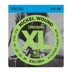 D'Addario EXL130+ Nickel Wound, Extra-Super Light Plus, 8.5-39