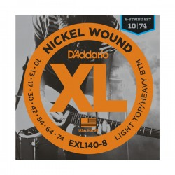 D'Addario EXL140-8 8-String Nickel Wound Light Top/Heavy Bottom, 10-74