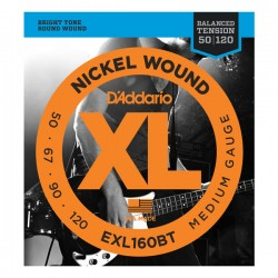 D'Addario EXL160BT Nickel Wound, Balanced Tension Medium, 50-120