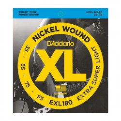 D'Addario EXL180 Nickel Wound, Extra Super Light, 35-95, Long Scale