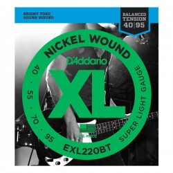 D'Addario EXL220BT Nickel Wound, Balanced Tension Super Light, 40-95
