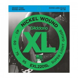 D'Addario EXL220SL NW Bass, Super Light, 40-95, Super Long Scale