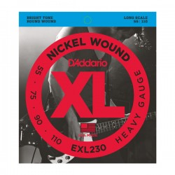 D'Addario EXL230 Nickel Wound Bass, Heavy, Long Scale, 55-110