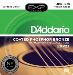 D'Addario EXP23 Coated Phosphor Bronze, Baritone, 16-70