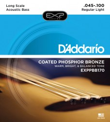 D'Addario EXPPBB170 Coated Phosphor Bronze Acoustic Long Scale, 45-100