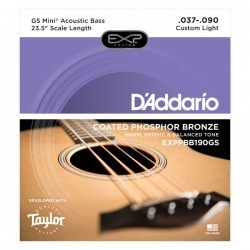 D'Addario Coated Phosphor Bronze Acoustic, Taylor GS Mini Scale, 37-90