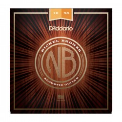 D'Addario NB1256 Nickel Bronze Acoustic, Light Top / Med Bottom, 12-56