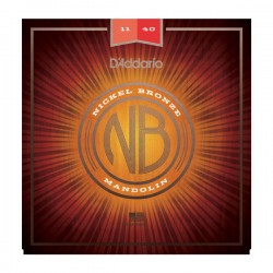 D'Addario NBM1140 Nickel Bronze Mandolin Set, Medium, 11-40