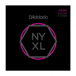 D'Addario NYXL0980 Electric Guitar Strings, 8-String, 9-80