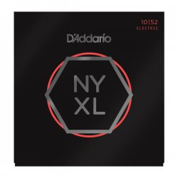 D'Addario NYXL1052 Nickel Wound Electric, Lt Top/Hvy Bottom, 10-52