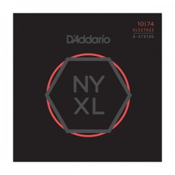 D'Addario NYXL1074 Nickel Wound 8-String, Lt Top / Hvy Bottom, 10-74