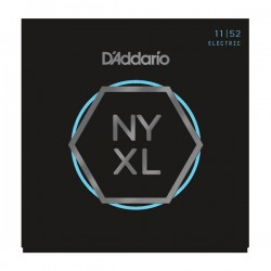 D'Addario NYXL1152 Nickel Wound, Medium Top / Heavy Bottom, 11-52