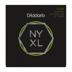 D'Addario NYXL1156 Nickel Wound, Medium Top/Extra-Heavy Bottom, 11-56