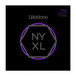 D'Addario NYXL1164 Nickel Wound 7-String, Medium, 11-64