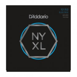 D'Addario NYXL1252W Nickel Wound, Light Wound 3rd, 12-52