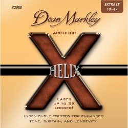Dean Markley 2080 Helix HD 80/20 Bronze Extra Light Acoustic, 10-47