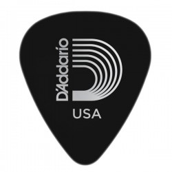 D'Addario 1CBK7-10 Black Celluloid Guitar Picks, 10 pack, Extra Heavy