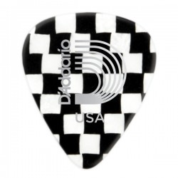 D'Addario 1CCB2-10 Checkerboard Celluloid Guitar Picks, 10 pack, Light