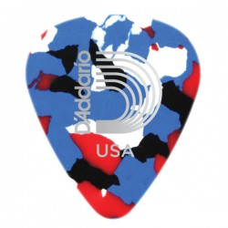 D'Addario 1CMC2-10 Multi-Color Celluloid Guitar Picks, 10 pack, Light