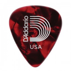 D'Addario 1CRP2-10 Red Pearl Celluloid Guitar Picks, 10 pack, Light
