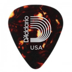 D'Addario 1CSH2-100 Shell-Color Celluloid Guitar Picks, 100 pk, Light