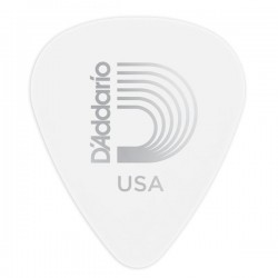 D'Addario 1CWH7-10 White-Color Celluloid Guitar Picks, 10 pk, Ex-Hvy