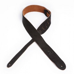 D'Addario 20LE03 Leather Embossed Bumpy Dotted Design Guitar Strap