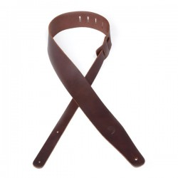 D'Addario 25TL01-DX Thick Leather Guitar Strap, Brown