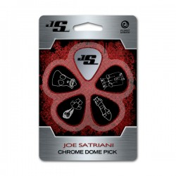 D'Addario JSCD-01 Joe Satriani Picks, Chrome Dome
