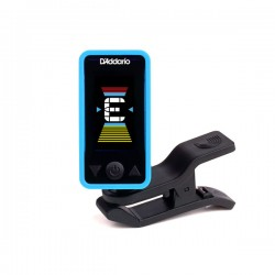 D'Addario PW-CT-17BU Eclipse Headstock Tuner, Blue