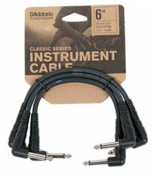 Planet Waves PW-CGTP-305 Classic Series Patch Cable, 3 pack, 6 In.