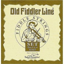 Super Sensitive 2407 Old Fiddler Plain Wound Fiddle String Set