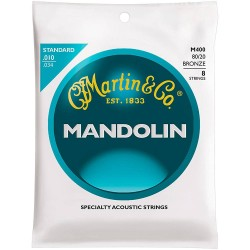 Martin M400 80/20 Bronze Mandolin Strings, Light Gauge Loop End, 10-34