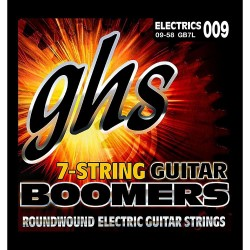 GHS GB7L Boomers 7-String Electric Guitar Strings, 9-58