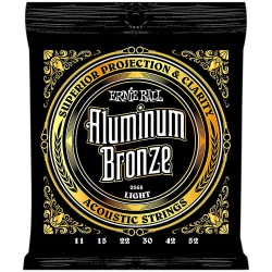 Ernie Ball 2568 Aluminum Bronze Acoustic Strings, Light, 11-52