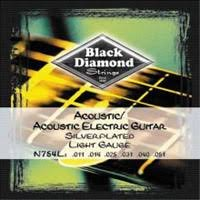 Black Diamond N754L Acoustic Silver Plated Wound, 11-51