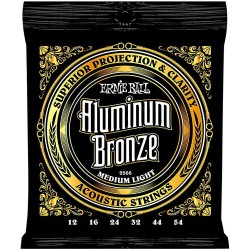Ernie Ball 2566 Aluminum Bronze Acoustic Strings, Medium Light, 12-54