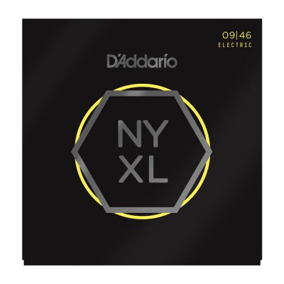 D'Addario NYXL0946 Nickel Wound, Super Light Top/Regular Bottom, 9-46